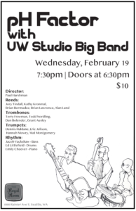 pH Factor with UW Studio Big Band