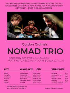Gordon Grdina's Nomad Trio w/Matt Mitchell and Jim Black