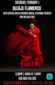 Oleaje Flamenco with Special Guests Ricardo Garcia, Stephanie Pedraza and Melissa Cruz