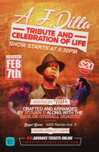 J Dilla Birthday Party and Tribute, featuring Vitamin D and The Carlos Overall Quartet