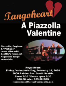 Tangoheart Presents: A Piazzolla Valentine