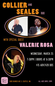 CANCELLED- Collier & Seales Duo with special guest Valerie Rosa
