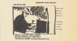 Wayne Horvitz 65th Birthday Live Stream Festival: The Royal We / Sweeter Than the Day
