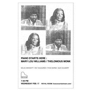 KNKX Presents: PSH Mary Lou Williams / Thelonious Monk