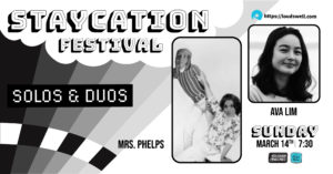 Staycation Solos and Duos: Kate Molloy/Clare Molloy Duo and Ava Lim Solo